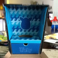 Inside Of Furby BOOM! Blue Waves Box