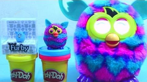 Furbling Play Doh with Talking and Dancing Furby Boom - Play Dough Creation