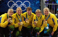 Sweden Women's Curling Gold Medal Champs