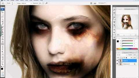 Photoshop Tutorial How To Zombie-fy Yourself! (Halloween Series)