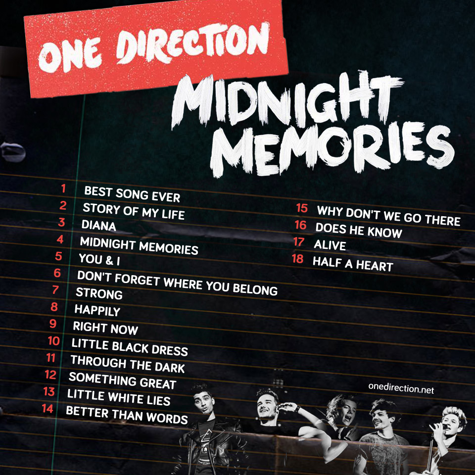 Download Lagu Better Now: Download Album One Direction Midnight Memories