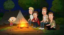 The campfire scene