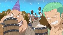 Zoro Celebrating at Punk Hazard Party