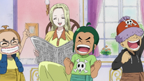 Kaya and Usopp Pirates Read Newspaper