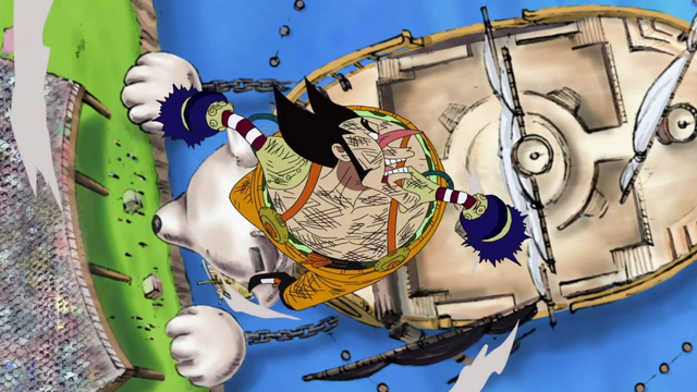 File:Foxy Defeated by Luffy.png