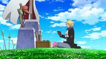Sabo talks to Ace's Gravestone