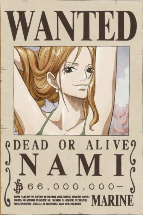 Image nami 39 s current wanted one piece wiki - One piece wanted poster ...