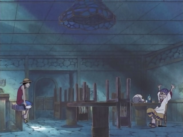 File:Luffy Talking to Raoul Inside Gold Roger Bar.png