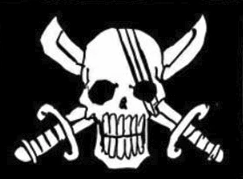 Red Hair Pirates' Jolly Roger