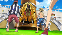 Straw Hat Pirates Meet Shiki