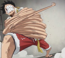 Luffy Attempts to Free Himself