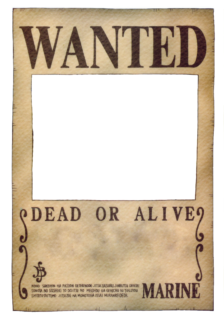 Wanted Poster FileOne Piece Wanted Poster