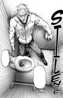 King in bathroom