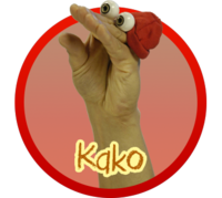 Oobi Kako Noggin Nick Jr TV Series Show Hand Puppet