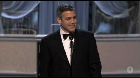 George Clooney winning Best Supporting Actor