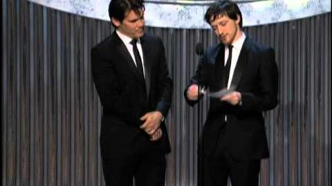 Joel Coen and Ethan Coen winning Best Adapted Screenplay