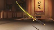 Genji malachite golden dragonblade