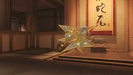 Genji cinnabar golden shuriken