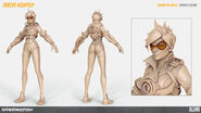 Tracer high-poly turnaround (By Renaud Galand)