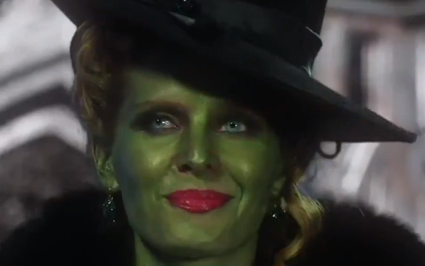 Wicked Witch Of The West Flying On Her Broom The Wicked Witch