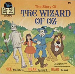 File:The Wizard of Oz book cover (Buena Vista Records, 24 Page Read-Along Book and Record, 347).png
