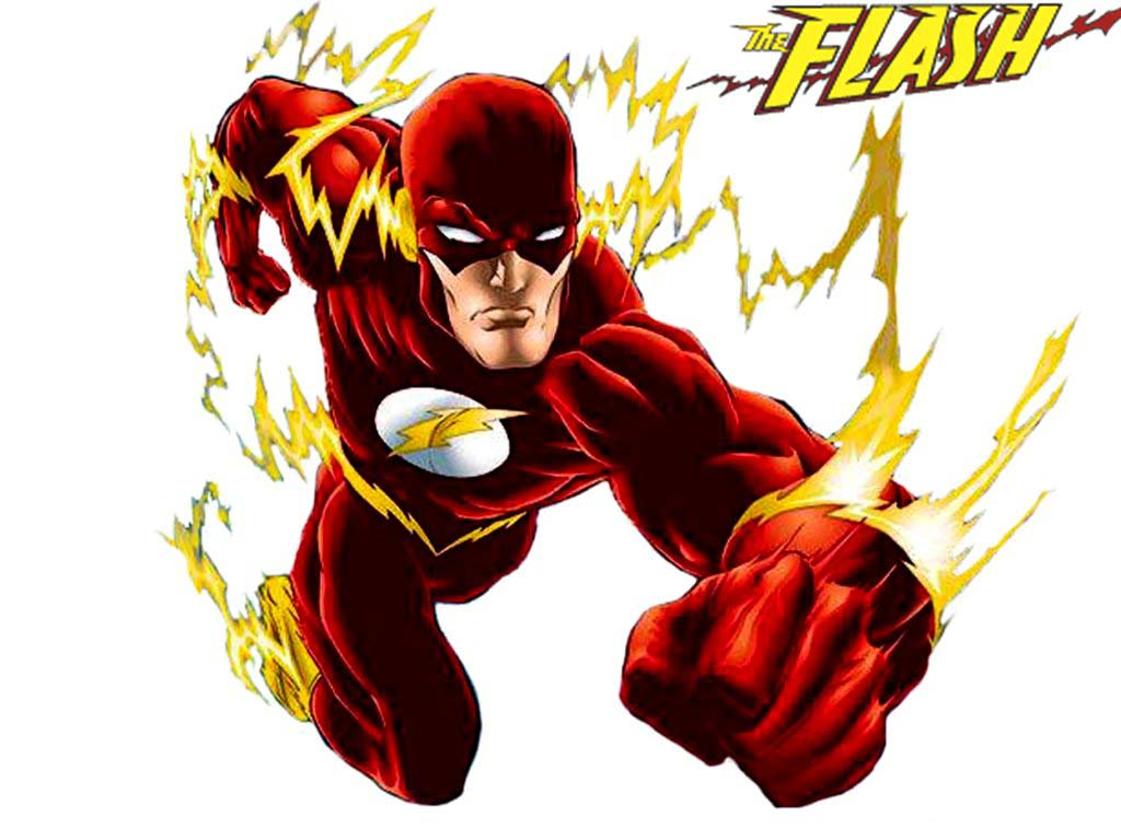 It is a photo of Selective Flash Superhero Images