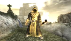 Supreme Evil Monk in Old Monastery
