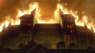 During tragedy - baskervillestate in fire