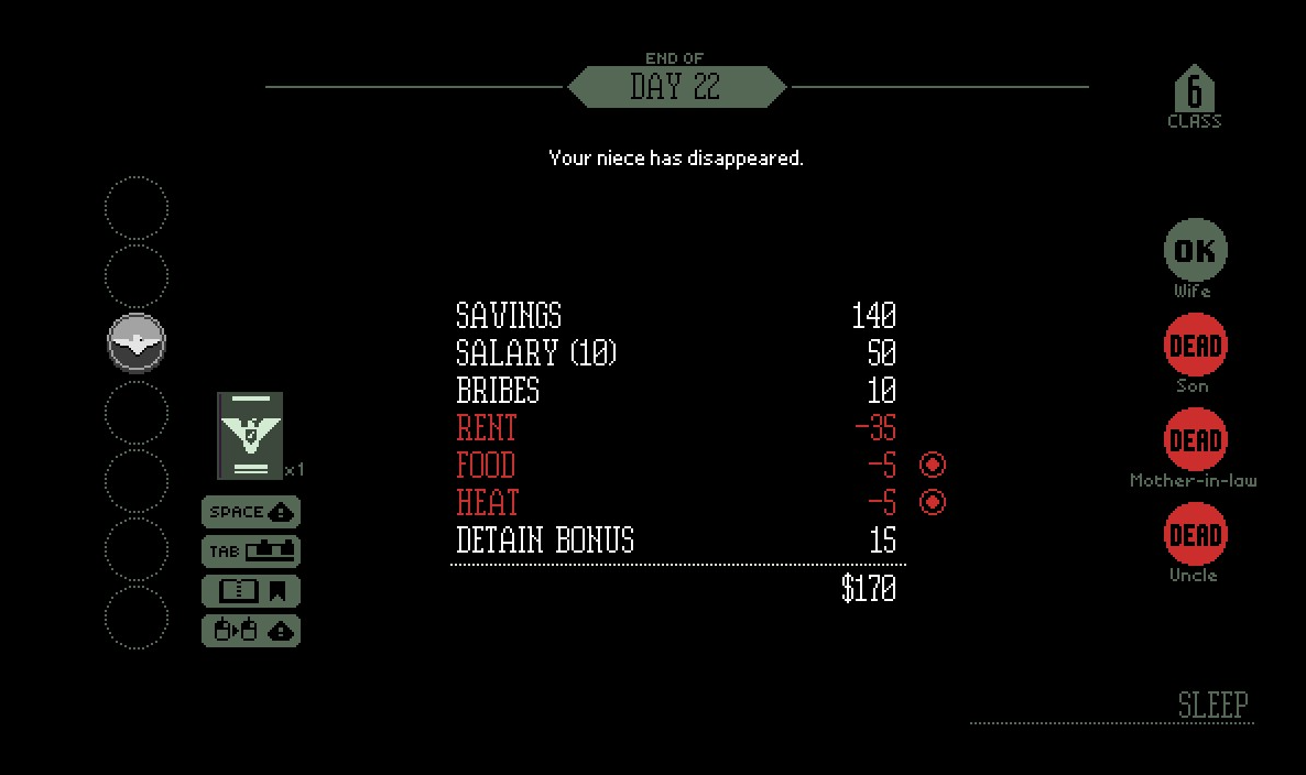 End of day screen | Papers Please Wiki | FANDOM powered by Wikia