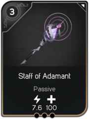Staff of Adamant card