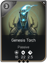 Genesis Torch card