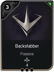 Backstabber card