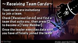 Receiving Team Cards