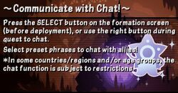 Communicate with Chat
