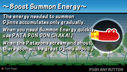 Boost summon energy
