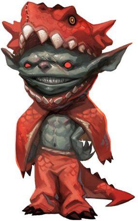 Goblin in dragon costume