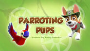 PAW Patrol Parroting Pups Title Card