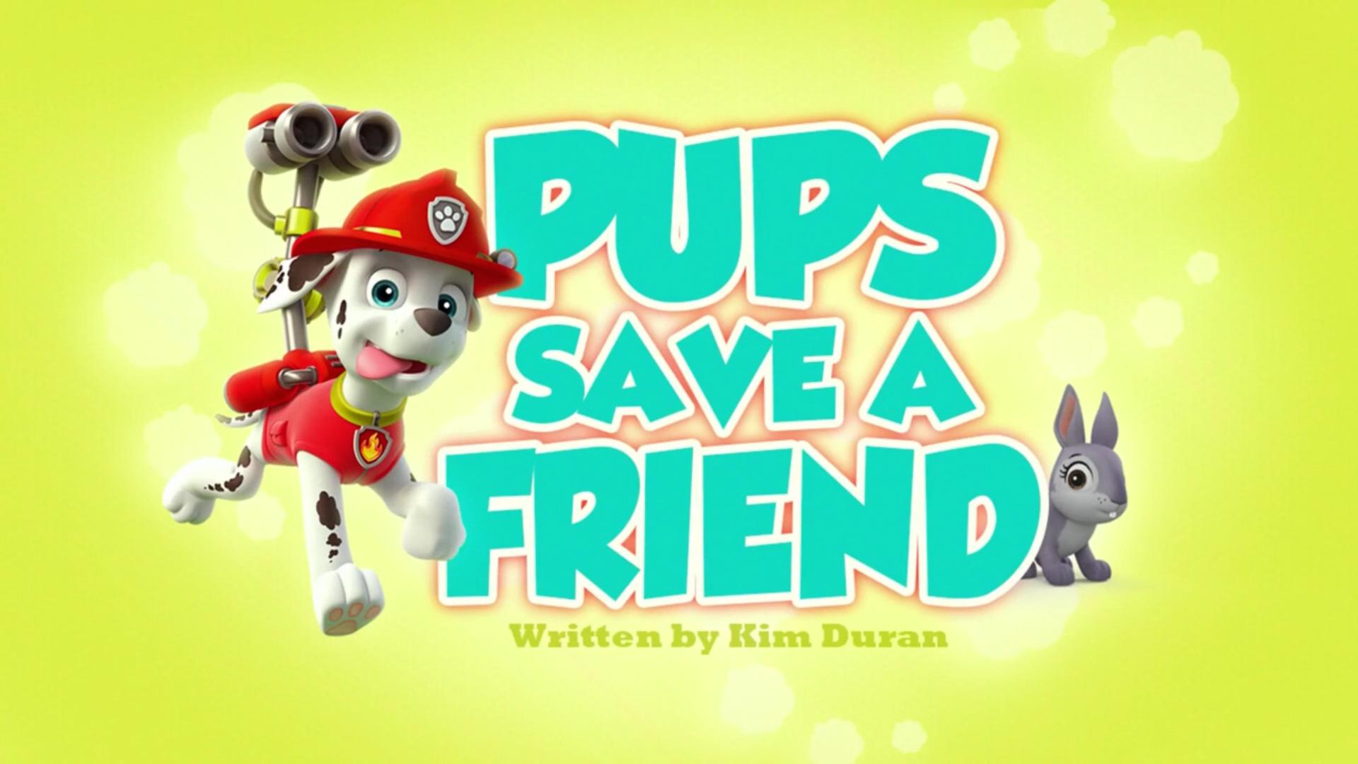Pups save a friend paw patrol wiki fandom powered by wikia