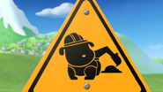 Rubble at Work Sign