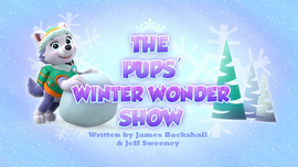 The Pups Winter Wonder Show Paw Patrol Wiki Fandom