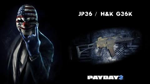 Payday 2 Weapons (JP36 Heckler & Koch G36K)
