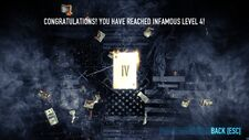Infamy level 4