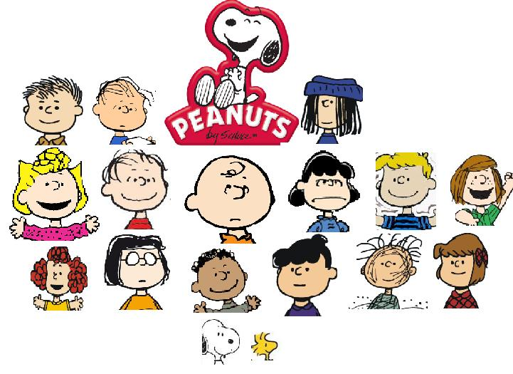List of Peanuts characters on loretta coloring page