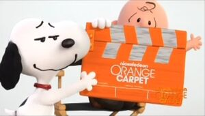 Charlie and Snoopy in Orange Carpet spot