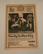 The Big Stuffed Dog 1981 NBC Ad