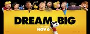 The Peanuts Movie Dream Big Banner 01