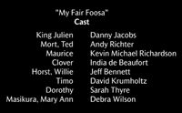 My Fair Foosa Voice Cast