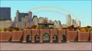 Zoo bajo arcoiris