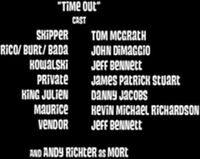 Time out cast