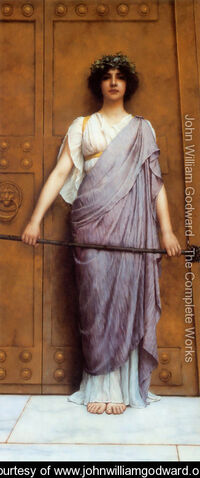 File:At the Gate of the Temple (or, The Priestess of Bacchus).jpg